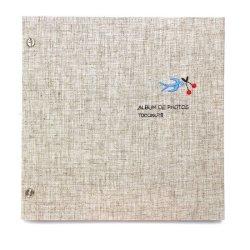 画像1: 小さな刺繍のフォトアルバム ツバメ AS-41F