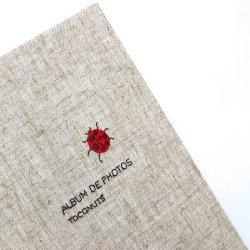 画像2: 小さな刺繍のフォトアルバム テントウ虫 AS-41A